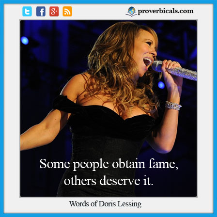 Saying about fame