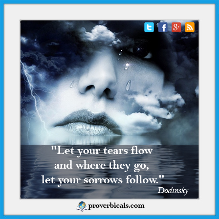 Saying about Tears