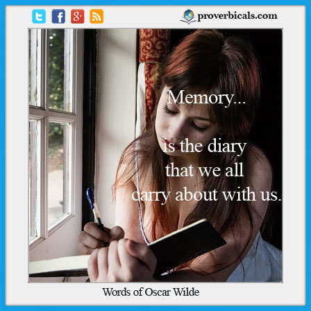 Saying about memory