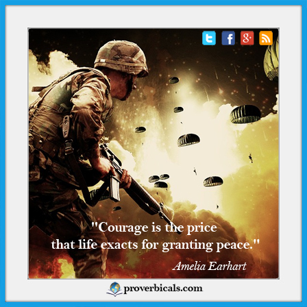 Favorite saying about courage