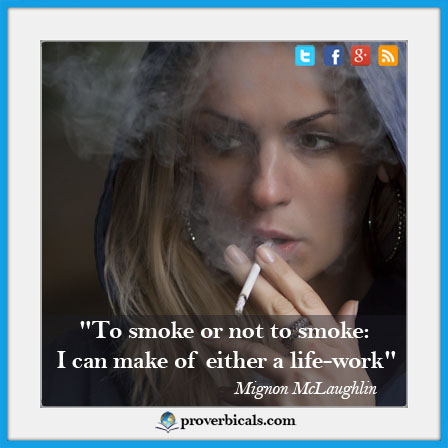 Saying about smoking