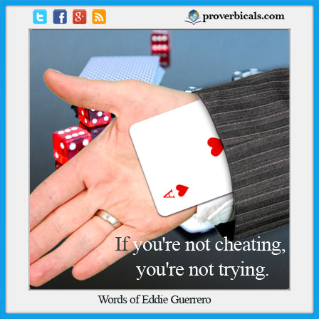 Saying about Cheating