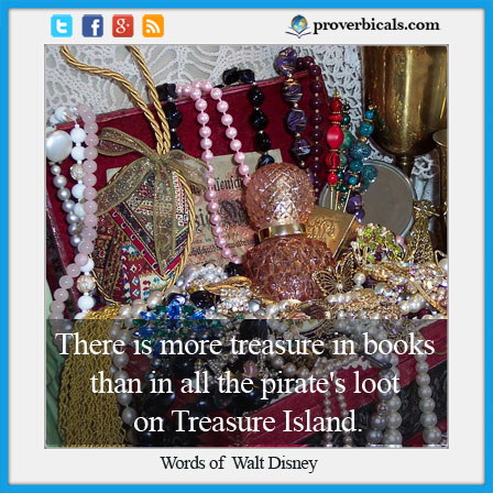 Saying about treasure