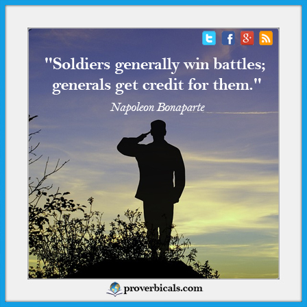 Saying about soldiers