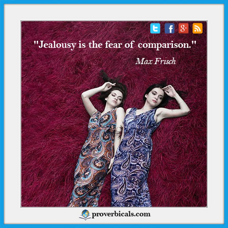 Saying about Jealousy