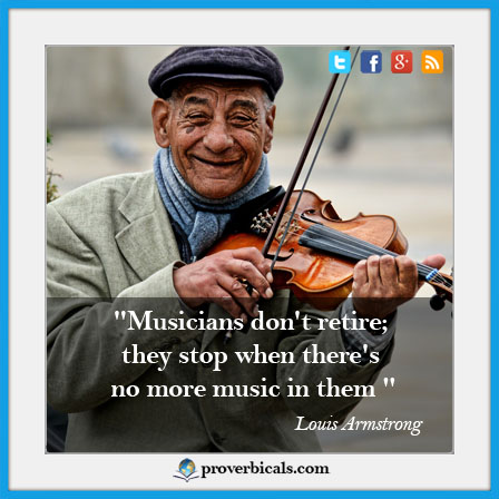 Saying about Musicians