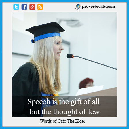 Saying about speeches