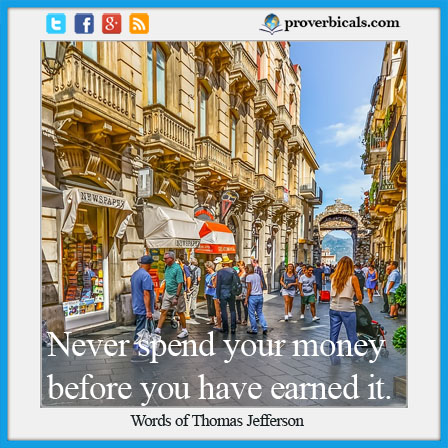 Favorite saying about spending