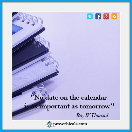 Saying about Calendars