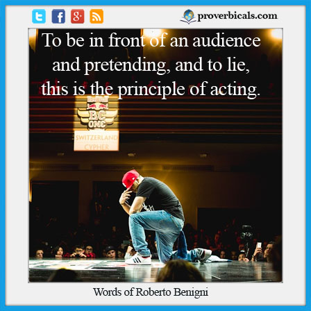 Saying about pretending