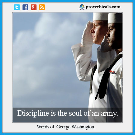 Saying about Discipline
