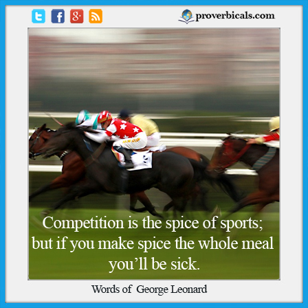 Saying about Competition