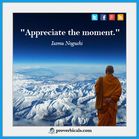 Saying about appreciation