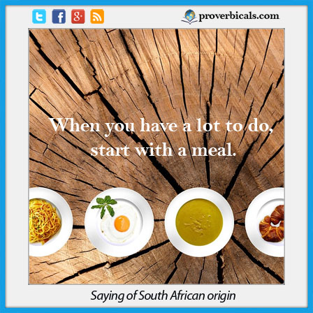Saying about Meals