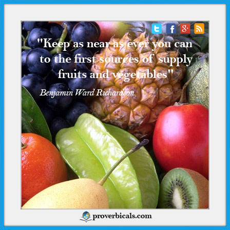 Saying about Fruits