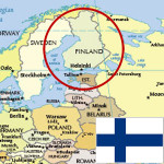 Finland Map and flag