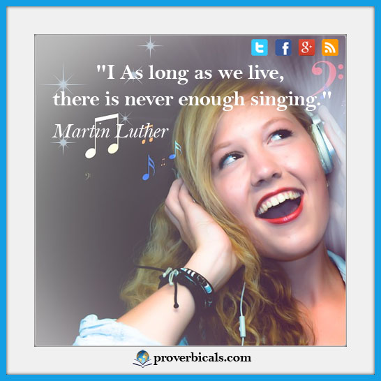 Singing photo quotes