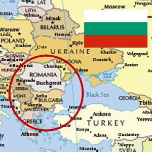 Bulgarian Flag and Map