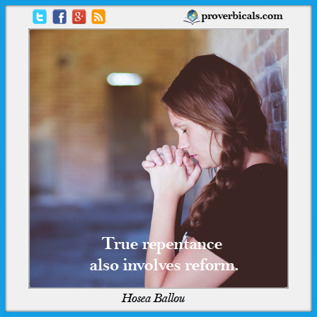 Repentance Proverbs