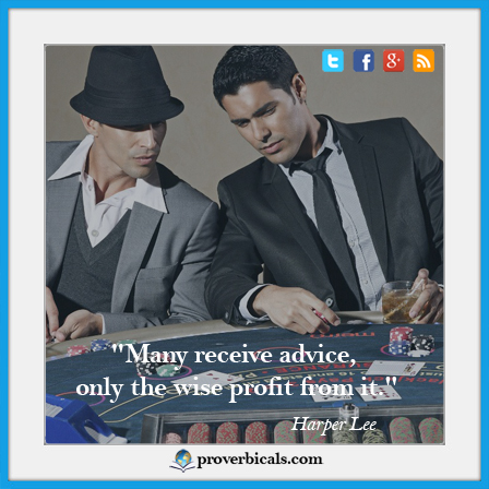 Saying about Profit & Loss