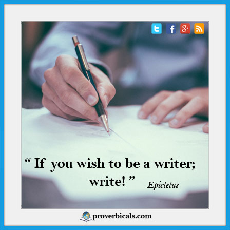 Saying about Writing