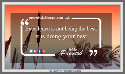 Saying about excellence
