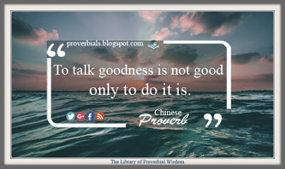 Saying about Goodness
