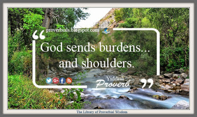 Saying about Burdens